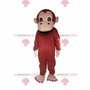 Mascotte scimmia con un mega sorriso - Redbrokoly.com
