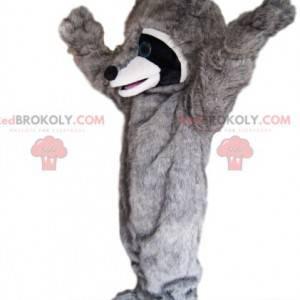Mascote guaxinim muito entusiasmado! - Redbrokoly.com