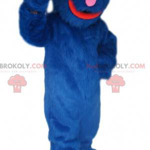 Lustiges und haariges blaues Monstermaskottchen - Redbrokoly.com