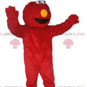 Vtipné a chlupaté červené monstrum maskot - Redbrokoly.com