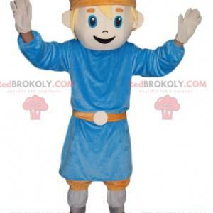 Malý chlapec maskot s modrou tunikou - Redbrokoly.com