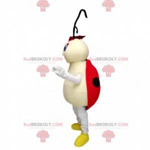 Ladybug mascot with yellow shoes - Redbrokoly.com