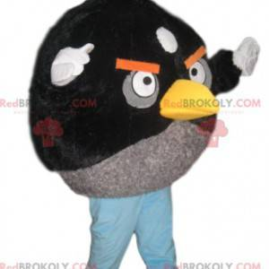 Angry Bird maskot svart og grå - Redbrokoly.com