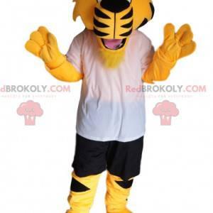 Super enthusiastic tiger mascot with sportswear - Redbrokoly.com