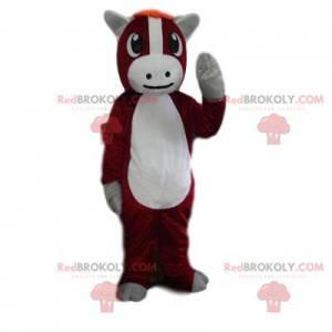 Velmi roztomilý hnědý a bílý osel maskot - Redbrokoly.com