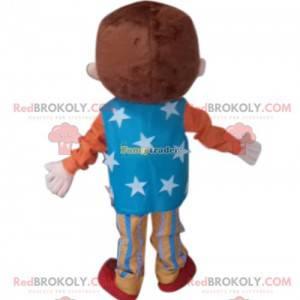 Liten guttemaskot med sirkusantrekk - Redbrokoly.com