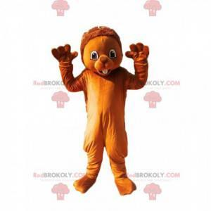 Mascote castor marrom fofo - Redbrokoly.com