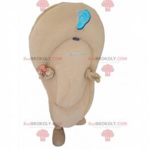 Béžový ušní maskot. Béžový ušní oblek - Redbrokoly.com