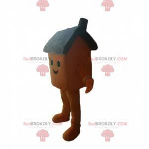 Smiling brown house mascot - Redbrokoly.com