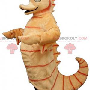 Giant orange seahorse mascot - Redbrokoly.com