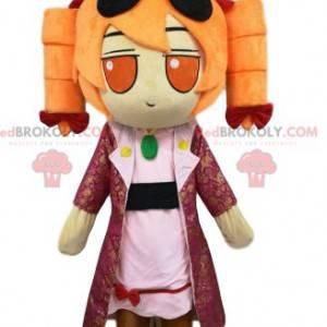 Mała dziewczynka maskotka z angielskimi lokami - Redbrokoly.com