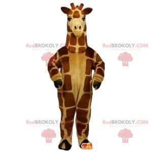 Mascote girafa muito elegante. Fantasia de girafa -