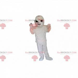 Mumifikovaná kostra maskot s černýma očima - Redbrokoly.com