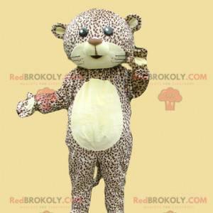 Strakatý leopard maskot tygr panter - Redbrokoly.com