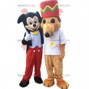 Duo de mascote de Mickey Mouse e Mouse - Redbrokoly.com