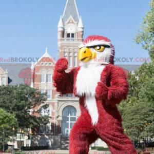 Rotes und weißes Adlermaskottchen der riesigen Eule -