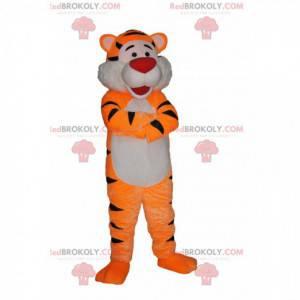 Velmi šťastný tygr maskot s červenou tlamou - Redbrokoly.com