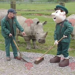 Pracovník zoo chovatel maskot - Redbrokoly.com