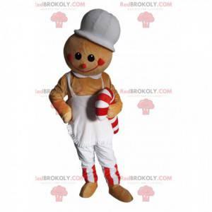 Gingerbread character mascot with barley sugar - Redbrokoly.com