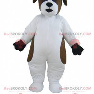 Svatý Bernard bílý a hnědý pes maskot - Redbrokoly.com