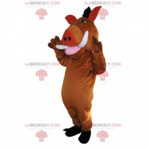 Mascotte van Pumba, het beroemde wrattenzwijn van de Lion King