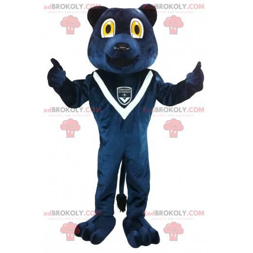 Maskottchen des blauen Bären der Girondins de Bordeaux -