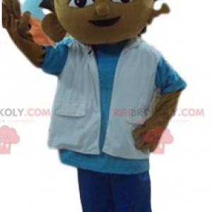 Mały chłopiec maskotka w stroju skutera - Redbrokoly.com