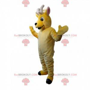 Real cabbage little yellow deer mascot - Redbrokoly.com