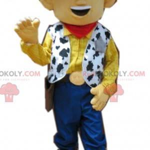 Hilarische Woody-mascotte, onze cowboy uit Toy Story -