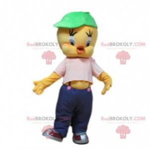 Mascote Piu-Piu, o pequeno canário do desenho animado Piu-Piu e