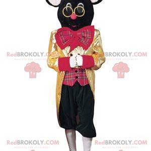 Cirkusová myš černá myš maskot - Redbrokoly.com