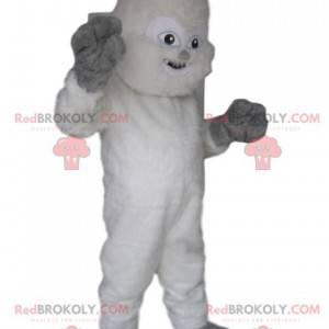 Fun white Yeti mascot. Yeti costume - Redbrokoly.com