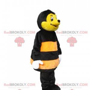 Mascote de abelha amarela e preta. Fantasia de abelha -