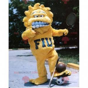 All hairy yellow sun monster mascot - Redbrokoly.com