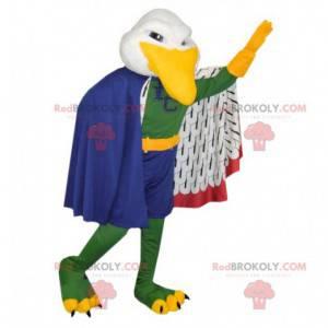 Barevný pták Racek maskot s pláštěm - Redbrokoly.com