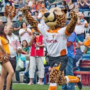 Leopard Geparden Maskottchen in Sportbekleidung - Redbrokoly.com