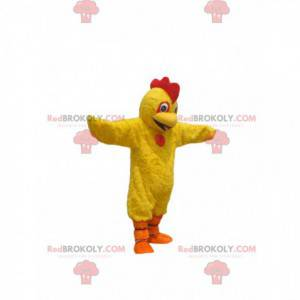 Žlutý kuřecí maskot s pěkně červeným hřebenem - Redbrokoly.com