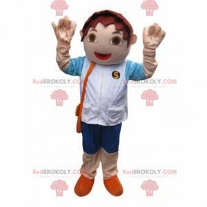 Maskot hnědý chlapec. Hnědý chlapec kostým - Redbrokoly.com