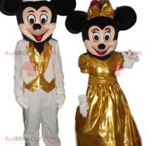 Dupla de mascote muito bonita de Mickey Mouse e Minnie -