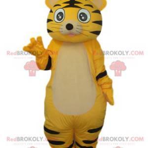 Roztomilý žlutý a černý tygr maskot - Redbrokoly.com