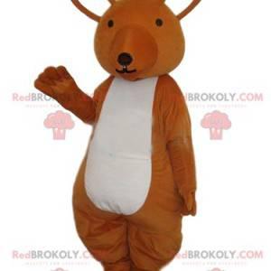 Brun kænguru maskot. Kænguru-kostume - Redbrokoly.com