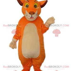 Funny lion mascot with a puff - Redbrokoly.com
