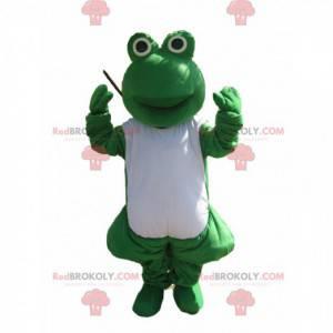Green and white frog mascot - Redbrokoly.com