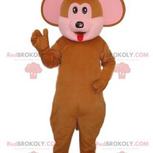 Maskot hnědá opice s velkýma ušima - Redbrokoly.com