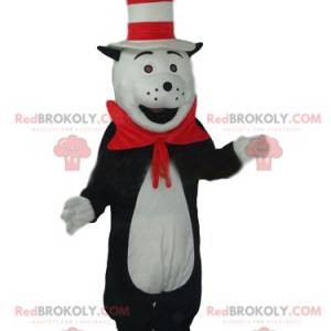 Black and white cat mascot with a funny hat - Redbrokoly.com