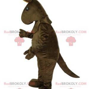 Brown kangaroo mascot. Kangaroo costume - Redbrokoly.com