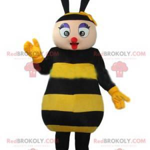 Mascote de abelha muito coquete. Fantasia de abelha -