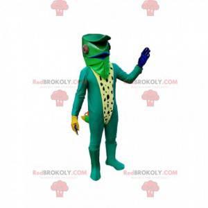 Mascotte camaleonte. Costume da camaleonte - Redbrokoly.com