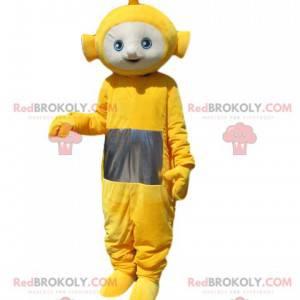 Maskottchen Laa-laa der gelbe Teletubby. Laa-laa-Kostüm -