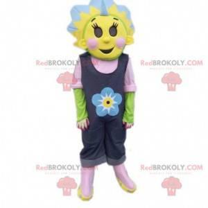 Barevný a květovaný maskot slunečnice maskot - Redbrokoly.com